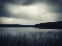 Beautiful lake with fog Stock Photo
