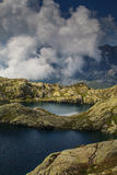 Beautiful lake in the French Alps Royalty Free Stock Photo