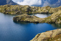 Beautiful lake in the French Alps Stock Photos