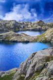 Beautiful lake in the French Alps Stock Image