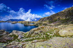 Beautiful lake in the French Alps Royalty Free Stock Image