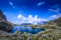 Beautiful lake in the French Alps Stock Photo
