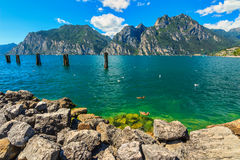 The beautiful Lake Garda near Torbole resort town,Italy,Europe Stock Photos