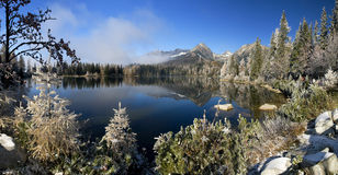 Beautiful lake in the High Tatras - Strbske pleso Royalty Free Stock Photos
