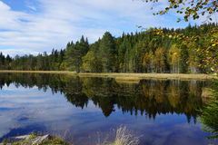 Beautiful lake. Idyllic lake in Norway in the fall Royalty Free Stock Images