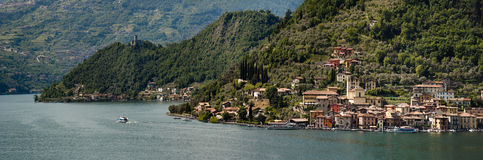 The beautiful lake of Iseo, North Italy, near Brescia and Bergam Royalty Free Stock Photo