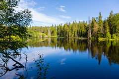 Beautiful lake on the island of Valaam in Russia Royalty Free Stock Photos