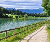 Beautiful lake in Italy Royalty Free Stock Photos
