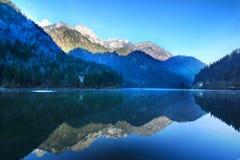 Beautiful lake in jiuzhai Stock Images