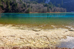 Beautiful lake in jiuzhaigou Stock Photography