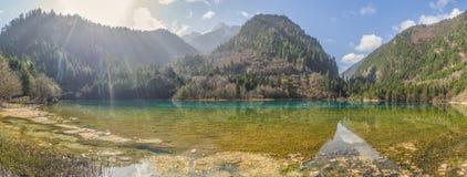 Beautiful lake in Jiuzhaigou Valley in Sichuan province, China. Stock Photo