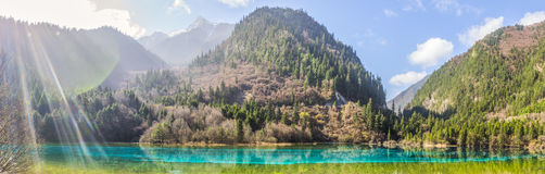 Beautiful lake in Jiuzhaigou Valley in Sichuan province, China. Stock Photo
