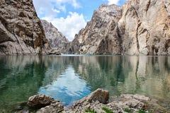 Beautiful lake Kel suu. In mountains Stock Photos