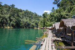 Beautiful lake at Khao Sok National Park. Thailand. Royalty Free Stock Photography
