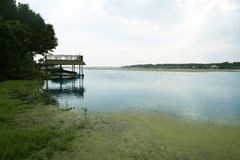 Beautiful lake landscape horizontal view in Texas Royalty Free Stock Images