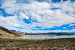 Mono lake, National park, California. Beautiful lake landscape at Mono lake in spring time, Yosemite,California stock image