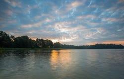 Beautiful lake landscape with nice light Royalty Free Stock Photos