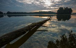 Beautiful lake landscape with nice light Royalty Free Stock Images