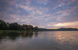Beautiful lake landscape with nice light Stock Photography