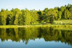 Beautiful lake landscape in Sweden Stock Photos