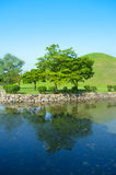 Beautiful lake and landscaped park Royalty Free Stock Photos