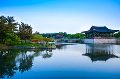 Beautiful lake and landscaped park Royalty Free Stock Images