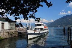 Beautiful lake in Locarno Switzerland royalty free stock photography