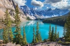 Beautiful Lake Louis in the Canadian Rockies. Banff National Park stock photo