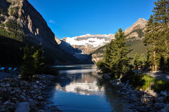 Beautiful Lake Louise with all it's purity, Alberta, Canada Stock Photos