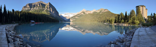 Beautiful Lake Louise with all it's purity, Alberta, Canada Royalty Free Stock Photos