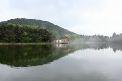 Beautiful lake in lushan Stock Photo