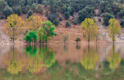 Beautiful lake in Morocco it called wiwan.  Stock Images