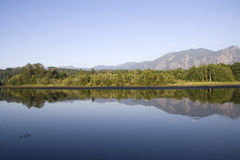 Beautiful lake mountain reflection Royalty Free Stock Image