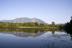 Beautiful lake mountain reflection Royalty Free Stock Photography