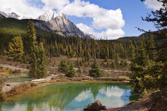Beautiful lake in the mountains Stock Photos