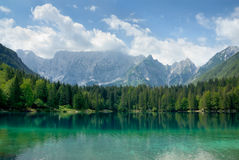Beautiful lake with mountains in the background Stock Photography