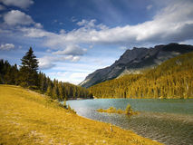 Beautiful Lake With Mountains in Background Stock Photography