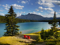 Beautiful Lake With Mountains in Background Royalty Free Stock Photography