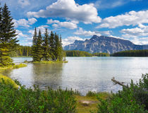 Beautiful Lake with Mountains Background Stock Image