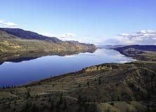 Beautiful BC Lake. Beautiful lake and mountains in BC Canada Stock Photos