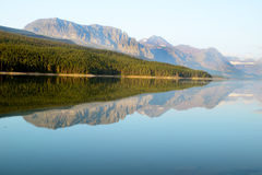 Beautiful lake and mountains in Glacier National Park. Royalty Free Stock Photography