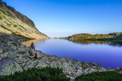Beautiful lake in the mountains Royalty Free Stock Images