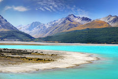 Beautiful Lake and Mountains, New Zealand royalty free stock photo
