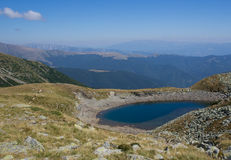 Beautiful lake in the mountains, Romania Royalty Free Stock Image