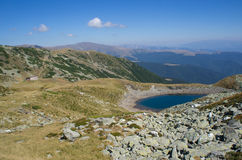 Beautiful lake in the mountains, Romania Royalty Free Stock Photo