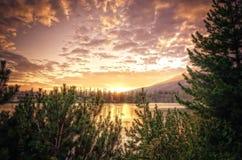 Beautiful lake in mountains. Royalty Free Stock Photo