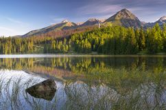 Beautiful lake in the mountains Royalty Free Stock Photo