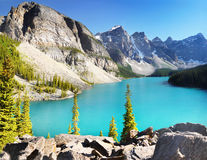 Beautiful Lake With Mountains Stock Photography