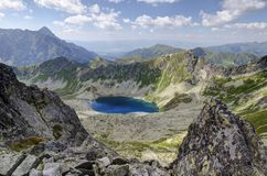 Beautiful lake in the mountains royalty free stock image