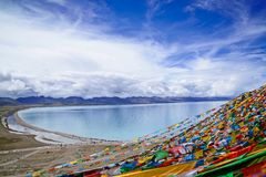 Beautiful lake. Namtso lake, beautiful lake in Tibet Royalty Free Stock Image